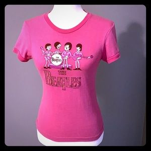 🍭Beatles Tee Hot Pink